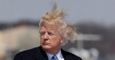 Трамп пожаловался на фейковое фото своей прически.