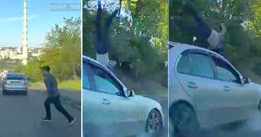 Машина сбила молодого человека, перебегавшего дорогу в неположенном месте. Фото: Point.md.