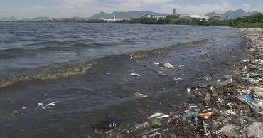 Знаменитые пляжи Рио-де-Жанейро покрыли горы мусора, который вынесло прибоем.