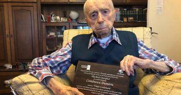 Думитру Комэнеску в возрасте 111 лет и 7 месяцев стал самым старым мужчиной на планете.