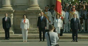 В центре Кишинева проходит военный парад в честь Дня независимости Молдовы.