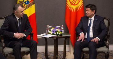 Премьер Молдовы встретился с киргизским коллегой.