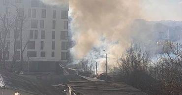 На Рышкановке в частном доме произошел сильный пожар.