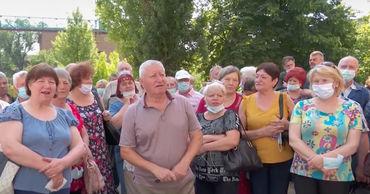 Сотрудники Moldova Hidromaș год не получают зарплату, они вышли на протест.