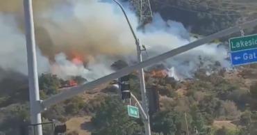 В США из-за лесного пожара эвакуировали киностудию Warner Brothers.