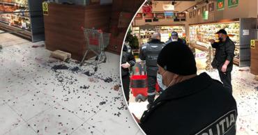 В столичном магазине возмущенный мужчина устроил скандал из-за винограда. Коллаж: Point.md.