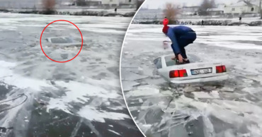 Автомобиль Audi утонул в озере. Коллаж: Point.md