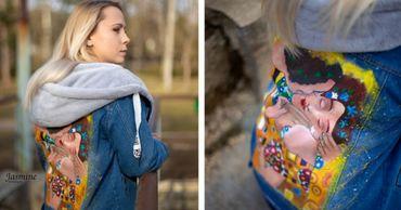 Молодая художница из Бельц превращает одежду в произведение искусства