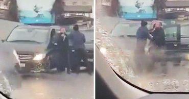 Потасовка двух водителей в Кишиневе попала на видео.