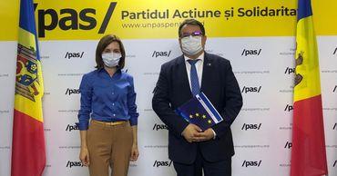 """Санду """"поделилась с послом ЕС обеспокоенностью в связи с выборами"""". Фото: facebook.com."""