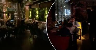 Протест HoReCa: рестораны выключили свет на две минуты.