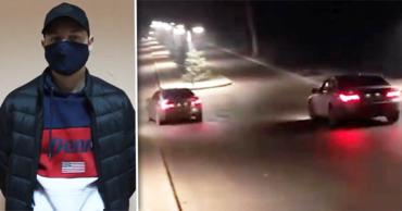 Задержан один из водителей, устроивших гонки на пешеходной аллее. Коллаж: Point.md