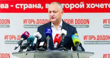 Действующий президент Молдовы Игорь Додон. Фото: Sputnik.md.