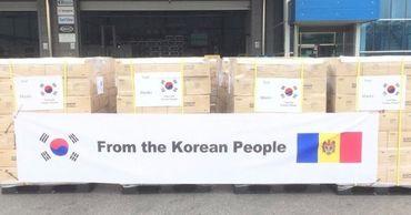 Корея передала Молдове 200 тысяч защитных масок.