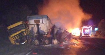 В результате ДТП в Сороках загорелись два грузовика: один человек погиб