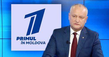 """Додон: У телеканала """"Первый в Молдове"""" скоро появятся владельцы из РФ."""