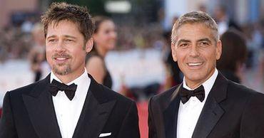 Бред Питт необычно разыграл Джорджа Клуни во время съемок.