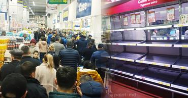 Коронавирус заставил граждан Молдовы опустошать полки магазинов.