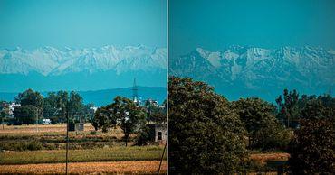 Воздух стал чистым, и впервые за 30 лет видны вершины Гималаев.