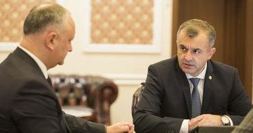 Президент Игорь Додон и премьер-министр Ион Кику.