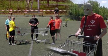 В Германии придумали новый вид футбола в условиях пандемии коронавируса. Фото: Point.md.