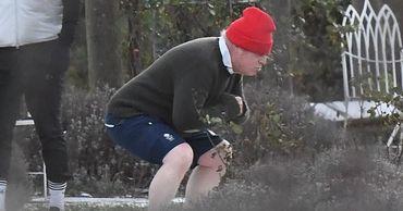 Британцев позабавил внешний вид Бориса Джонсона во время тренировки в парке.