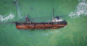 Общественное движение «Зеленый лист» обследовало подводную часть танкера.