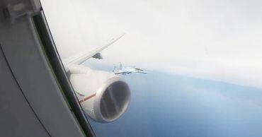 Опубликовано видео перехвата самолета ВМС США российскими Су-35.