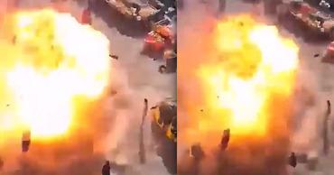 В Сети появилось видео момента смертоносного взрыва в центре Багдада. Фото: Point.md.