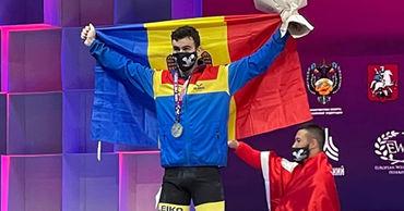Молдавский тяжелоатлет Марин Робу стал вице-чемпионом Европы.