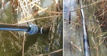Контрабандисты соорудили под водой трубопровод для переправы спирта в Молдову.Фото: Point.md.