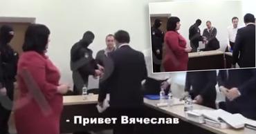 Опубликовано видео с допроса, на котором Платон жмет руку Стояногло.