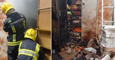 В Комрате на рынке произошел пожар: сгорели три киоска. Коллаж: Point.md