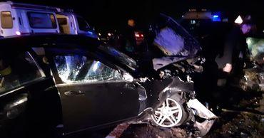 На трассе Кишинев-Леушены произошла серьезная авария: погиб человек. Фото: politia.md.