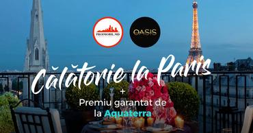 Proimobil.md и Oasis разыгрывают путешествие в Париж.