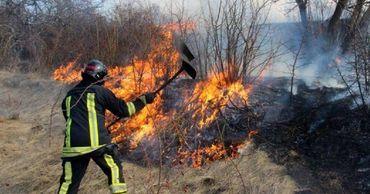 В Кагуле произошел крупный пожар: горела сухая растительность.