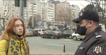 Масочный режим на улицах Кишинёва: полицейские предупреждают, нарушители оправдываются.