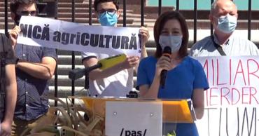 Санду: Если проблема фермеров не решится, 16 августа они выйдут на протест