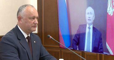 Додон попросил Путина восстановить транспортное сообщение с Молдовой.