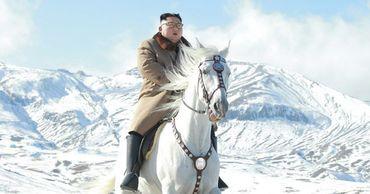 Лидер Северной Кореи Ким Чен Ын поднялся на священную гору Пэктусан.