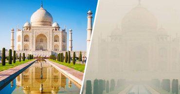 Сильный смог добрался до самой знаменитой достопримечательности Индии – Тадж-Махала. Фото: Point.md.