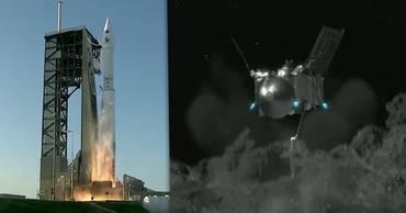 С астероида Бенну вылетел зонд с образцами грунта. Коллаж: Point.md.