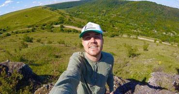 Молодой человек совершил пешее путешествие по Молдове.