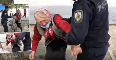 В Кишиневе полицейские жестоко обошлись со старушкой из-за пучка зелени.
