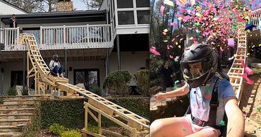 В США подросток построил на заднем дворе дома американские горки. Фото: Point.md.