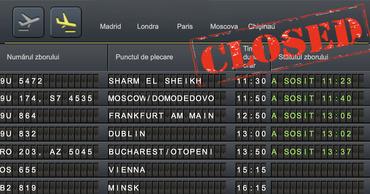 Молдова приостанавливает авиасообщение и закрывает границы.