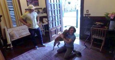 Астронавт Кристина Кук опубликовала трогательное видео встречи с собакой.