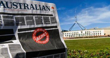 В Австралии газеты и телеканалы провели акцию против цензуры.