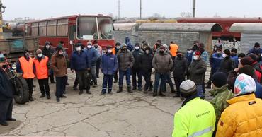 Железнодорожники вышли на акцию протеста в Бессарабке.