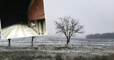 В Шолданештах слой снега достигает нескольких сантиметров.